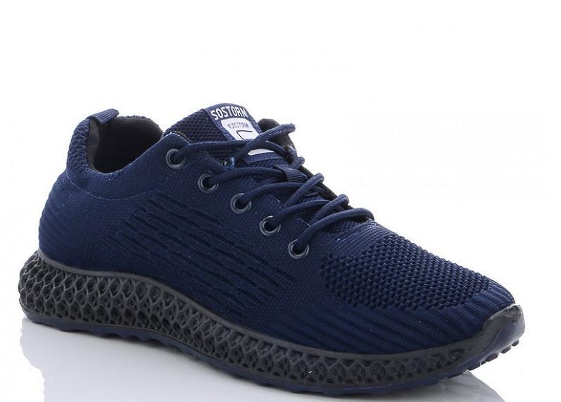 Кроссовки мужские синие Lion-HFX005