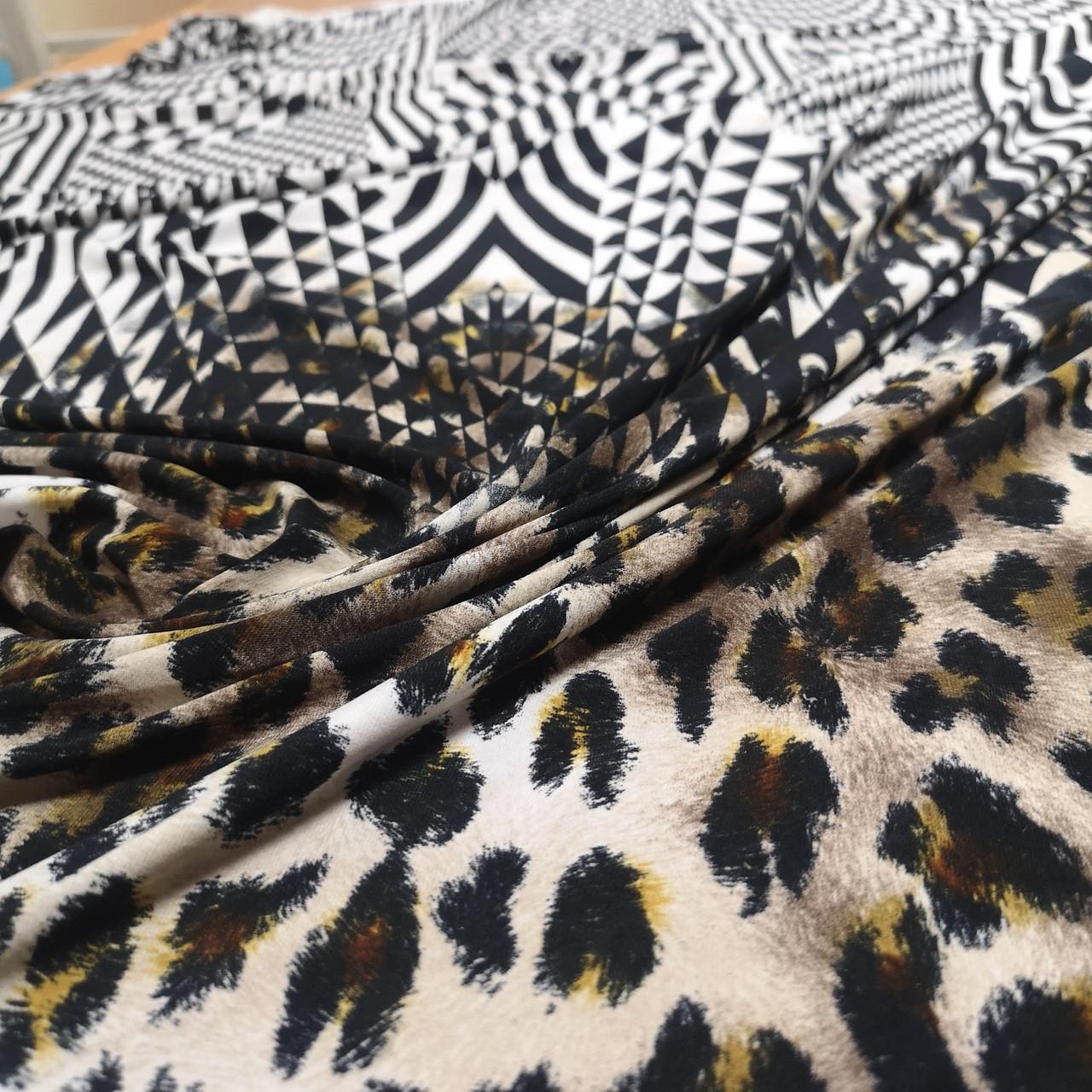Трикотаж масло принт леопард купон РАСПРОДАЖА