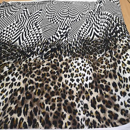 Трикотаж масло принт леопард купон РАСПРОДАЖА, фото 2