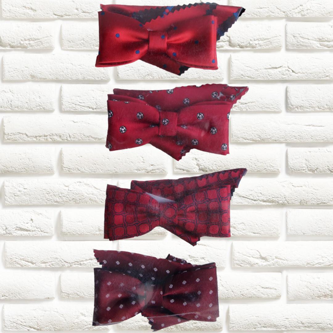 Галстуки-бабочки  для мальчиков Польша красные с платком в карман