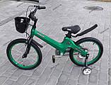 """Велосипед дитячий TT 18"""" легка магнієва рама (5-10 років), зелений, фото 3"""