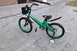 """Велосипед дитячий TT 18"""" легка магнієва рама (5-10 років), зелений, фото 2"""