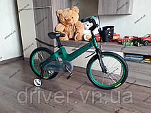 """Велосипед дитячий TT 18"""" легка магнієва рама (5-10 років), зелений"""