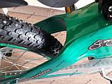 """Велосипед дитячий TT 18"""" легка магнієва рама (5-10 років), зелений, фото 6"""