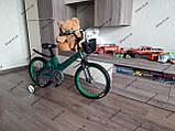 """Велосипед дитячий TT 18"""" легка магнієва рама (5-10 років), зелений, фото 8"""