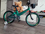 """Велосипед дитячий TT 18"""" легка магнієва рама (5-10 років), зелений, фото 7"""