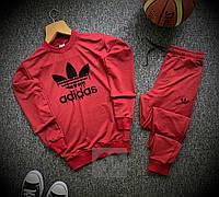 Мужской спортивный костюм Adidas красный осенний | осенний Адидас Свитшот + Штаны