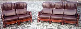 Комплект мягкой мебели с лебедями 3+2. Бельгийськие диваны.