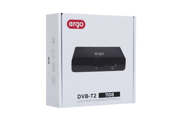 Цифровой эфирный T2 ресивер ERGO 1108
