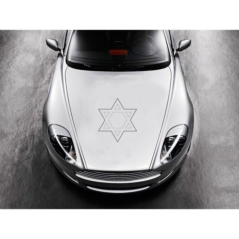 Наклейка на авто   Вінілова плівка Німеччина  Зірка