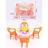 Меблі для ляльок 8840 столовая 2 кол.пласт.18*10*14