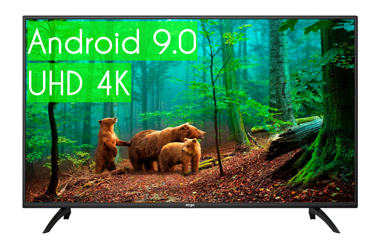 "Телевизор Ergo 56"" SmartTV (Android 9.0) + UHD 4K ГАРАНТИЯ!"