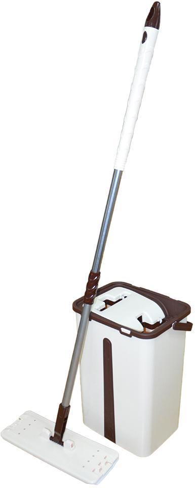"Набор для уборки/Швабра лентяйка с ведром для отжима,""MAXI FLAT MOP"", TM ZAMBAK PLASTIC"