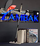 "Набор для уборки/Швабра лентяйка с ведром для отжима,""MAXI FLAT MOP"", TM ZAMBAK PLASTIC, фото 10"