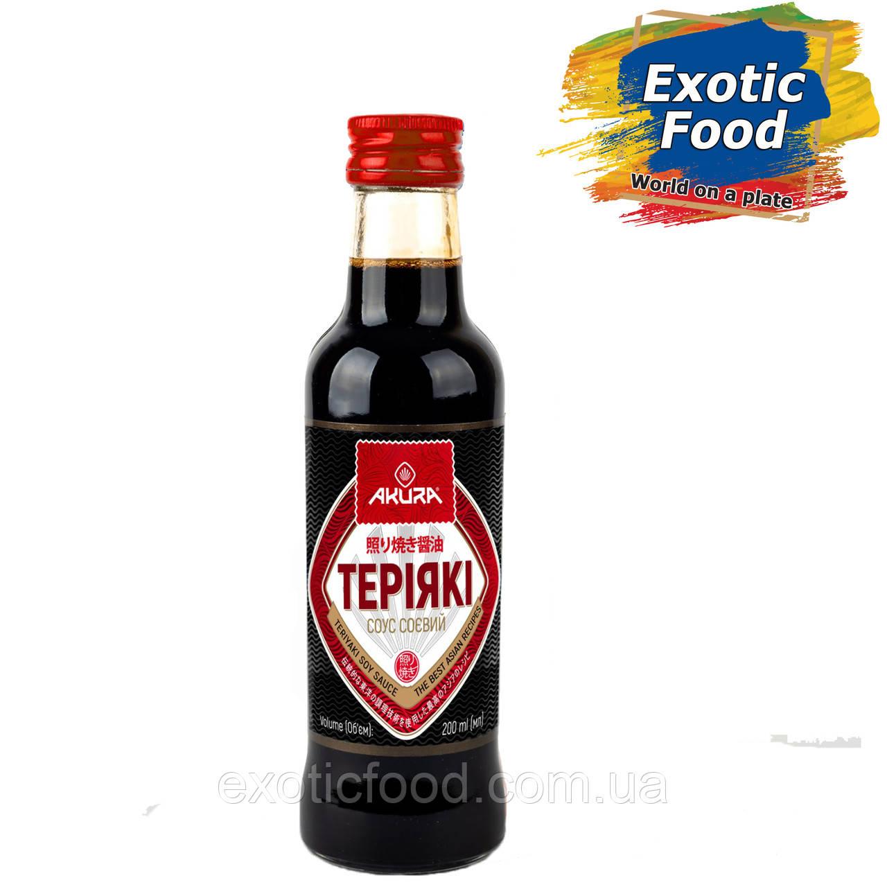 "Соус соевый ""Терияки"" ТМ ""AKURA"", 200 мл"