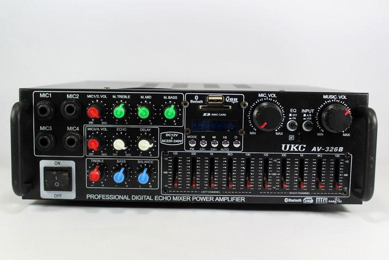 Усилитель звука UKC AMP 326-BT