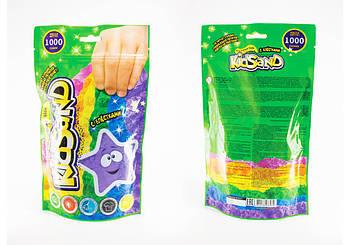 Кинетический песок Danko Toys с блестками KidSand, вес 1000 грамм