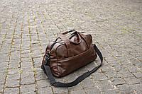 Мужская кожаная дорожная сумка Rst коричневая