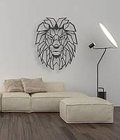 "Декор для стен. Панно из металла ""Хитрый лев"""