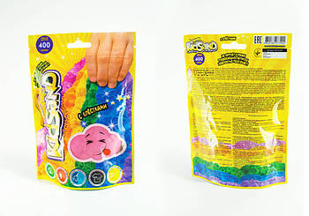 Кинетический песок с блестками Danko Toys KidSand, вес 400 грамм