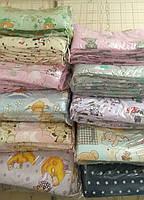 Защита для детской кроватки молочно разные цвета
