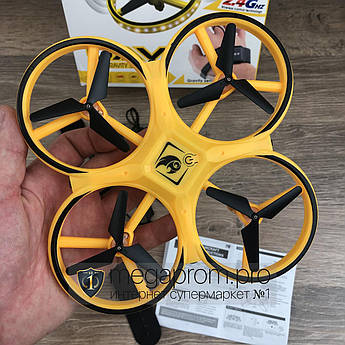 Квадрокоптер з сенсорним управлінням UAV дрон з дитячий маленький літаючий на радіоуправлінні для дітей