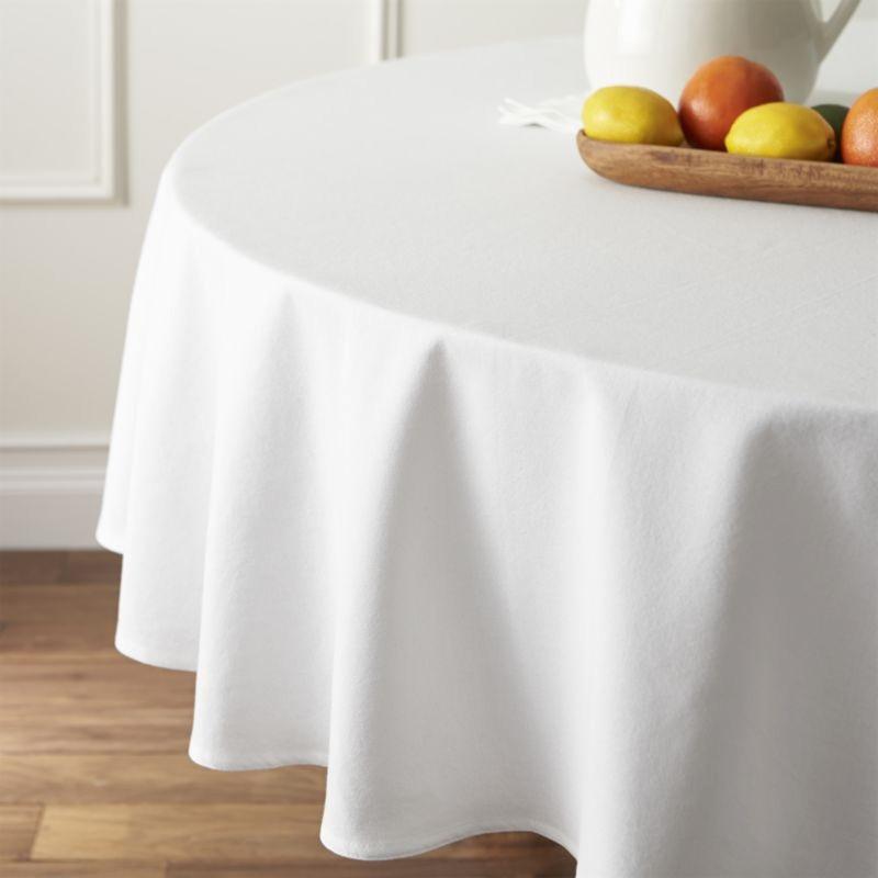 Скатерть диаметром 150см на круглый стол Р-195 Белая