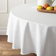Скатертина діаметром 150см на круглий стіл Р-195 Біла