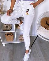 Стильные спортивные брюки с микки маусом двунитка