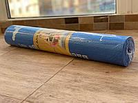 Йога мат нескользящий 4 мм синий, коврик для йоги и фитнеса