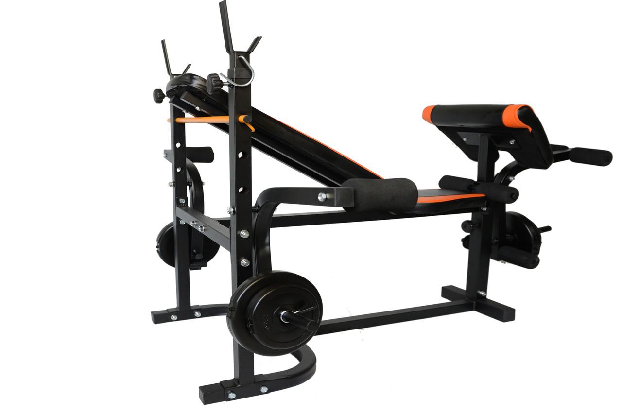Лава тренувальна WCG 0070 + тяга скотта набір штанга 98 кг, фото 2