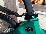 """Велосипед дитячий TT 16"""" легка магнієва рама (4-8 років), зелений, фото 10"""