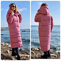 Длинная куртка кокон M500 ярко-розовый / розовый зефир