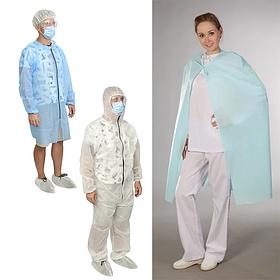 Захисний одяг (комбінезони, фартух, халат, накидка)