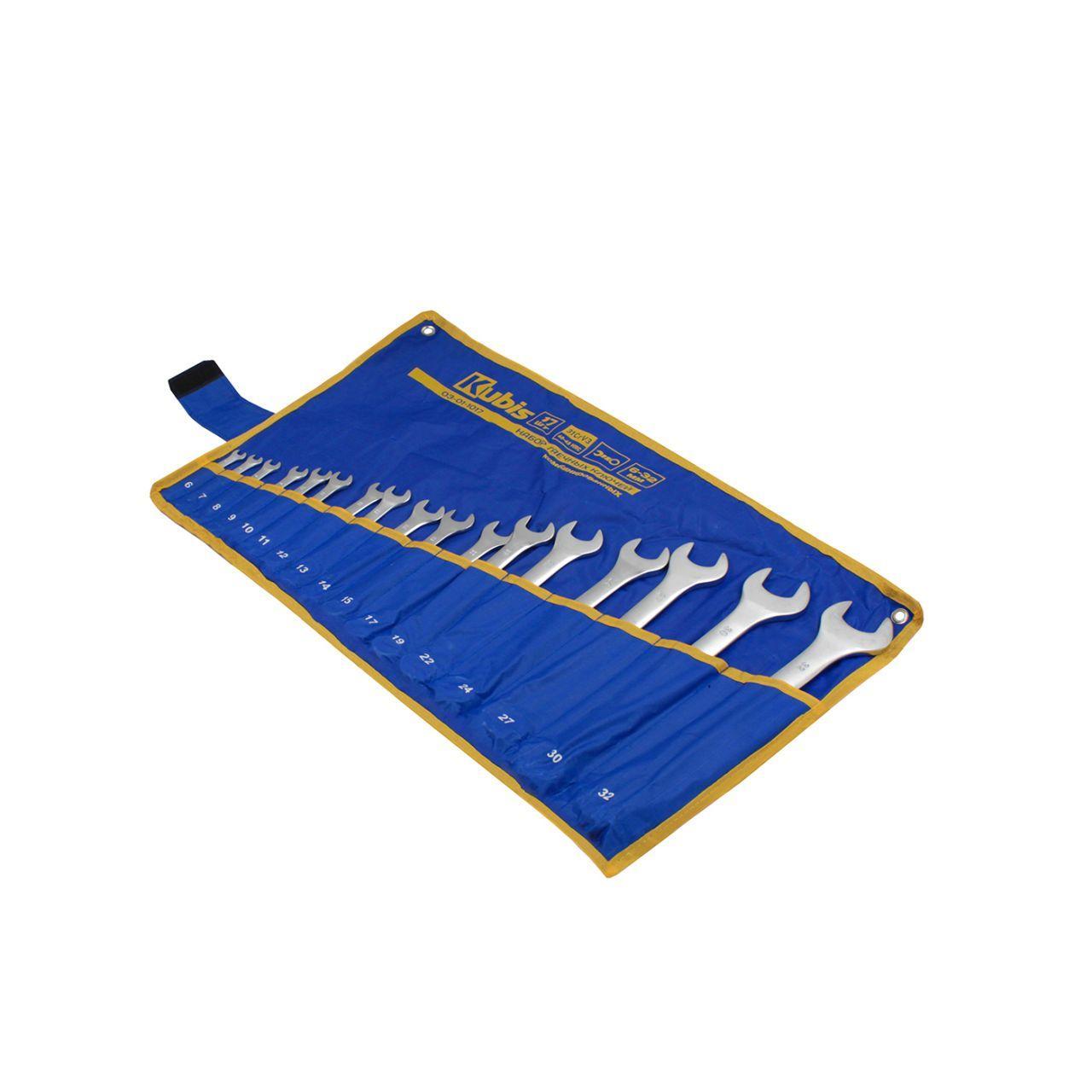 Ключи комбинированные гаечные набор 20 шт., (6-19,21,22,24,27,30,32 мм), 31CrV3, DIN 3113