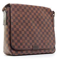 Большая мужская сумка A4 для документов коричневая через плечо деловая 41212, фото 1