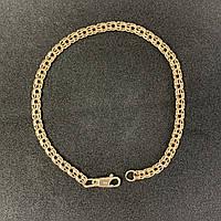 Золотой браслет БУ 585 пробы, плетение Бисмарк, вес 5,34г