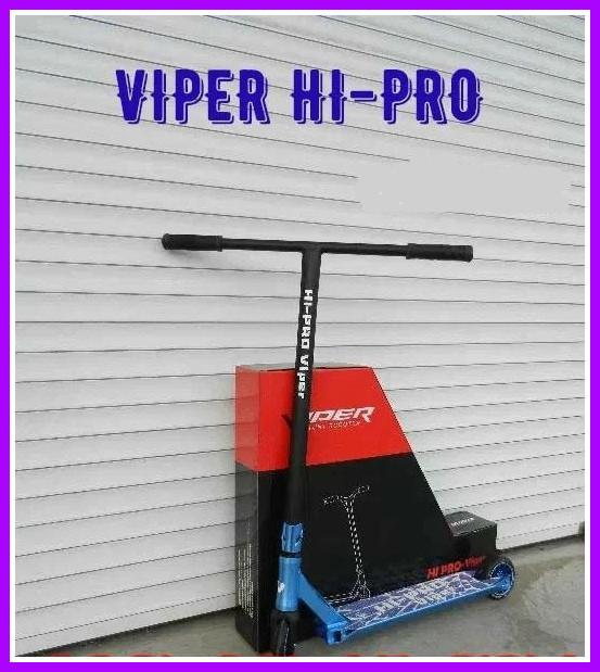 Трюковый самокат Viper Hi-Pro с пегами синий