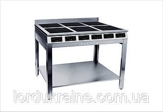 Плита індукційна плитка 6-ти конфорочна Сквара Sif 6.18 (6х3 кВт)