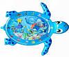 Розвиваючий ігровий килимок для немовляти з водою Lindo Черепашка, 100*80 см, F 2011