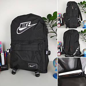 Черный городской рюкзакс логотипом для подростка