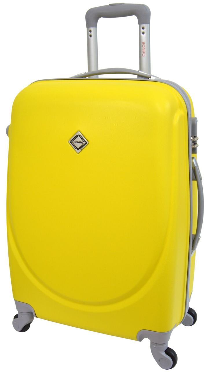 Чемодан  Bonro Smile велика жовтий