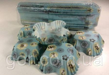 Паперові формочки для випічки кексів (4,5*4,5 см - 10*10 см) квадрат 1000шт 92 (1 уп.)