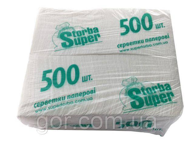 Салфетка для сервировки 500 листов белая  Супер Торба  (1 пач)