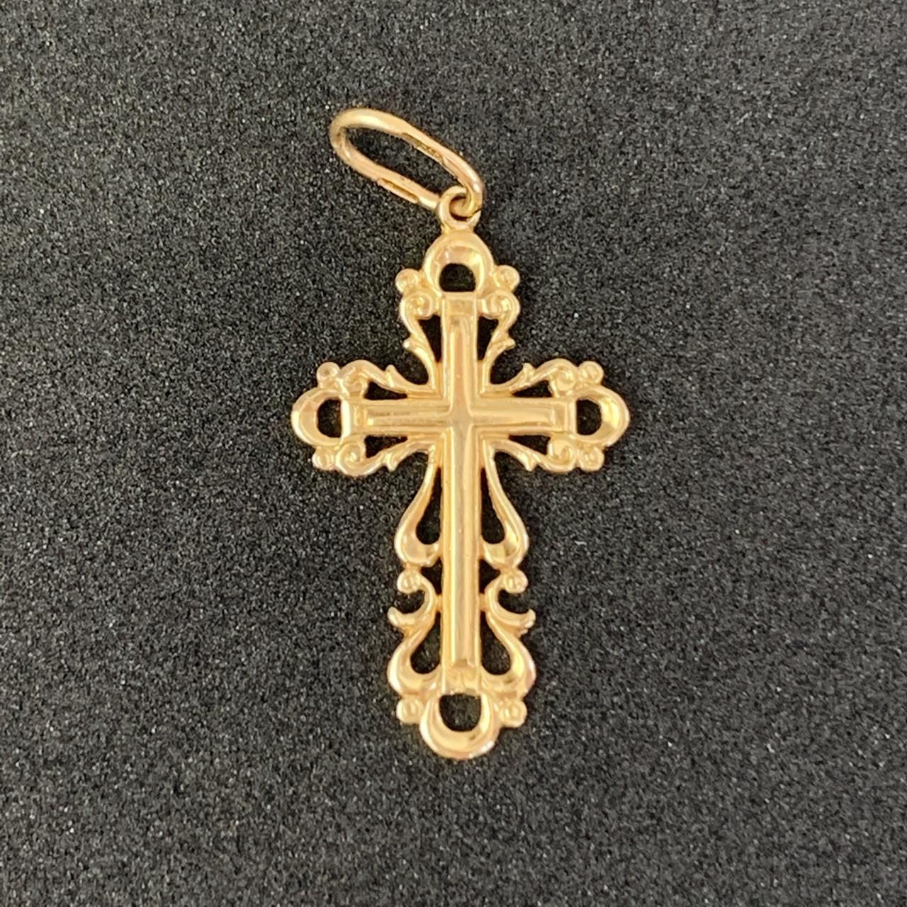 Золотой крест БУ 585 пробы, вес 1,54г