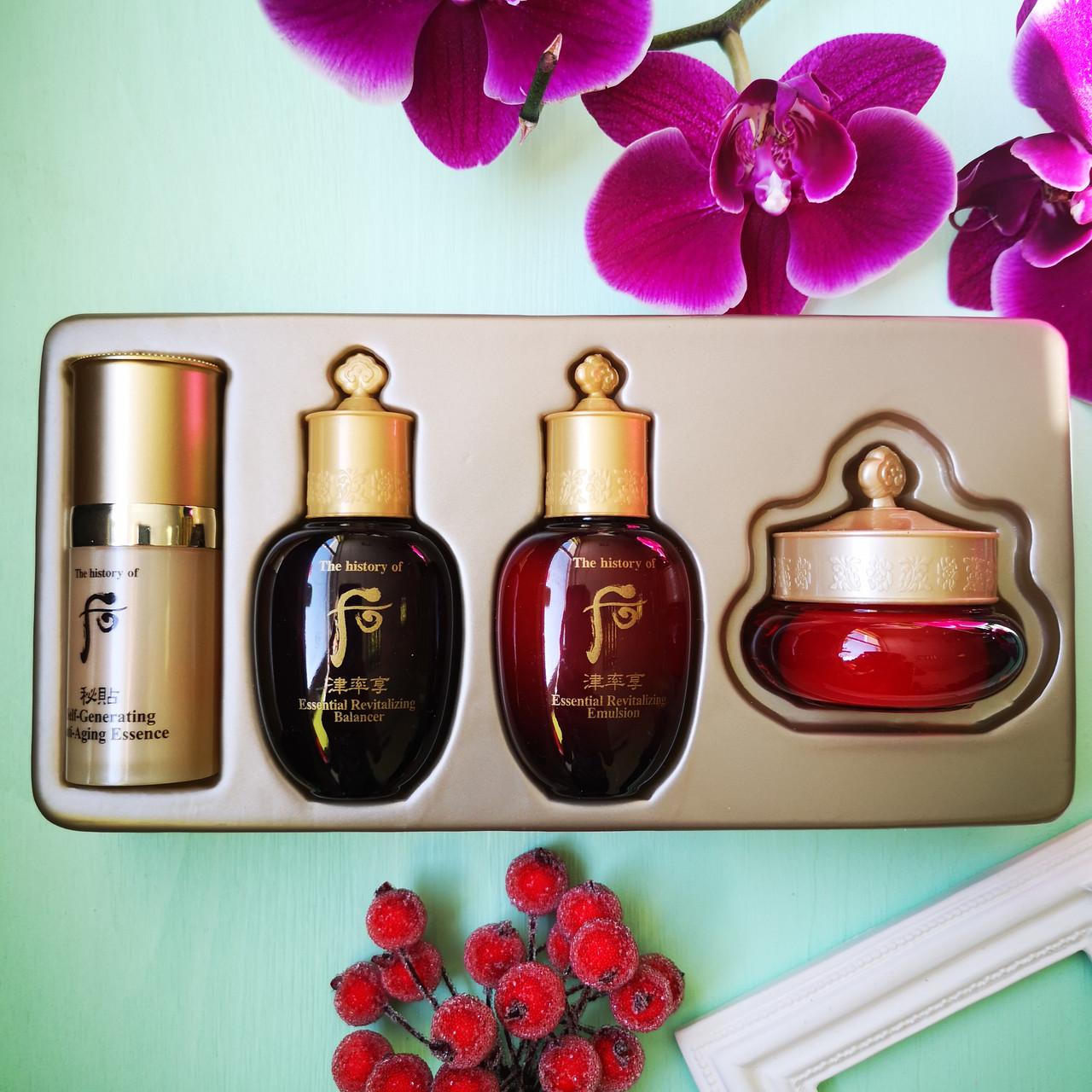 Набор средств Whoo антивозрастной серии 4 шт The History Of Whoo Ja Saeng Essence Special Gift Set 4 items