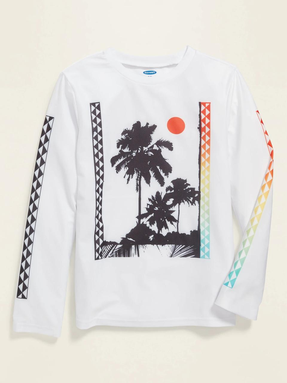 Рашгард футболка для купания с защитой от солнца Old Navy art860555 (Белый, рост 152 - 162см)