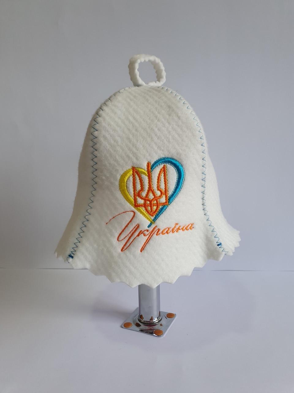 Шапка банна Україна в серці