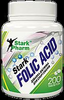 Фолієва кислота Stark Pharm - Folic Acid 400 мкг (200 таблеток) (вітамін В9)