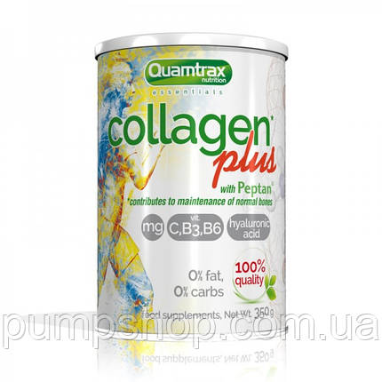 Коллаген Quamtrax Nutrition Collagen Plus with Peptan® 350 г, фото 2